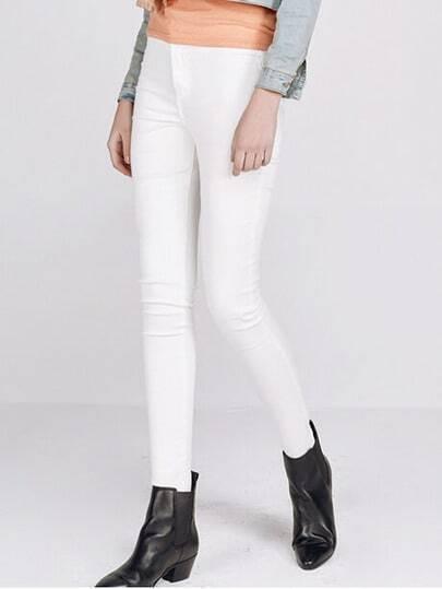 schmale Jeans-weiß