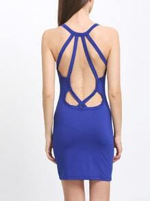 Backless Crossback Hourglass V Cut Bodycon Tying Slinky Dress