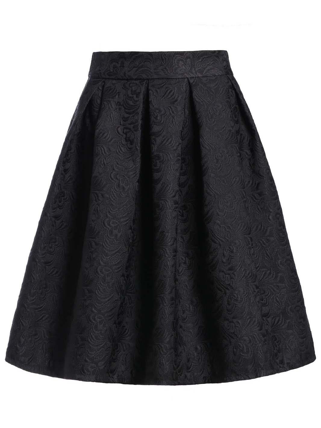 Фото Jacquard Box Pleated Skirt. Купить с доставкой