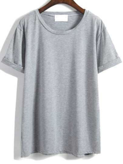 Cuffed Basic Tshirt