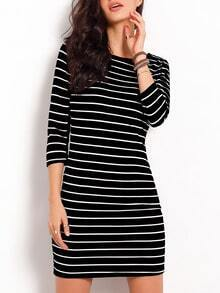 Striped Banded Chambray Stripy Fringes Stria Jumpers Boydcon Dress