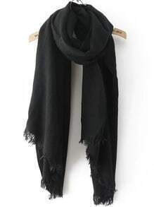Frayed Black Scarf