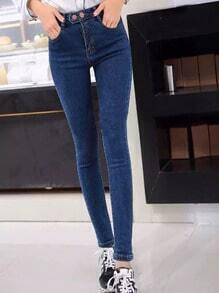 High Waist Denim Blue Pant Stylish Cosy Curved Jeans