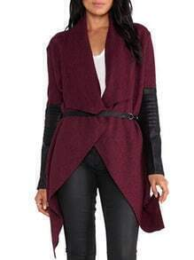 Drape Front Belt Coat