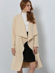 Khaki Long Sleeve Trench Coat