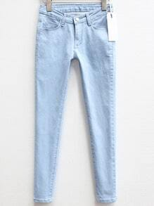 Blue Slim Denim Pencil Pant