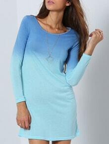 Long Sleeve Ombre Loose T-shirt