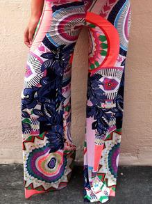 Florals Loose Multicolor Pant
