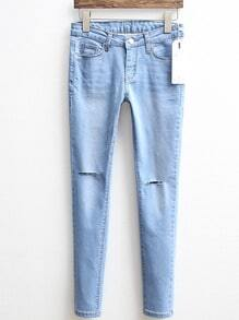 Ripped Denim Slim Pant
