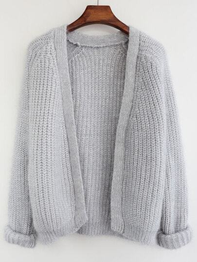 Loose Knit Grey Cardigan