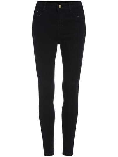 Black Casual Skinny Denim Pant