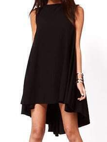Sleeveless High Low Shift Dress