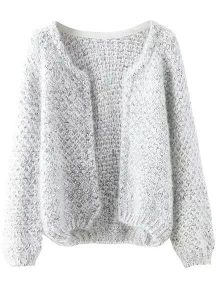 Фото Long Sleeve Mohair Grey Coat. Купить с доставкой