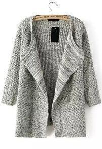 Knit Loose Beige Cardigan