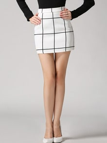 Check Bodycon Skirt