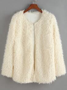 Round Neck Long Sleeve Coat
