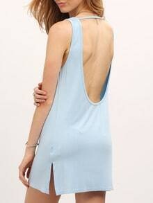 Sleeveless Open Back Beach Dress