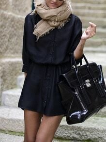 Black With Button Dress