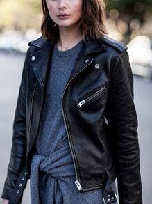 Black Long Sleeve Zipper Jacket