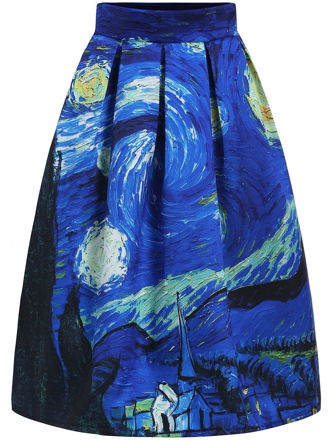 Multicolor Oil Painting Flare Skirt