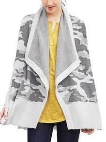 Grey Lapel Split Sweater
