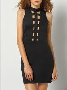Black Sleeveless Cut Out Bodycon Dress