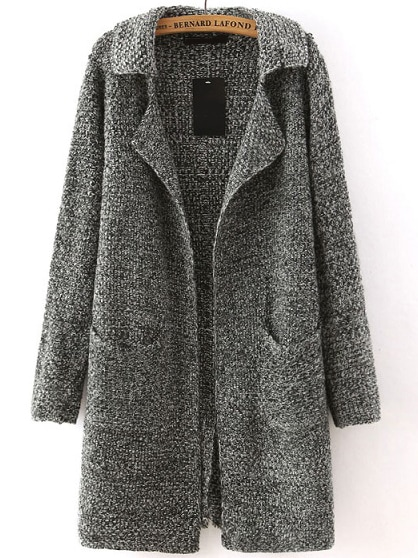 Grey Sweater Coat 4