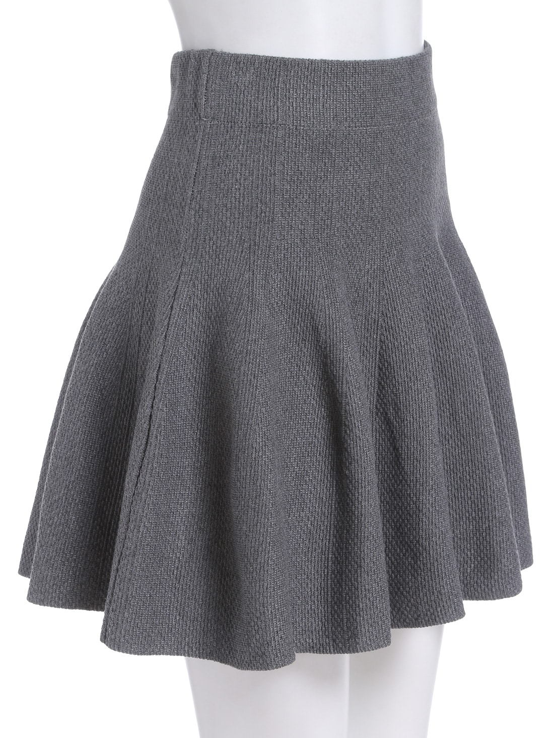 grey a line knit skirt shein sheinside