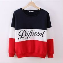 Letters spell color round neck long-sleeved sweater hedging