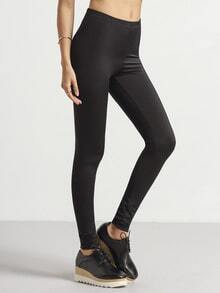 Black Slim Elastic Leggings