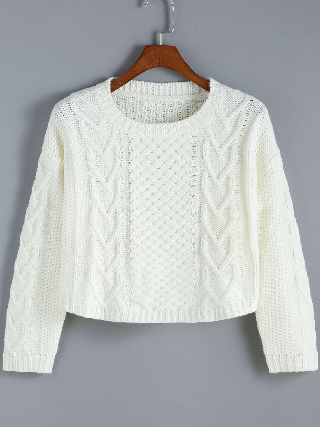 Вязание кроп свитера 64