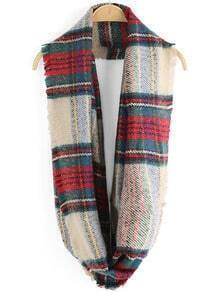 Multicolor Fringe Plaid Scarve