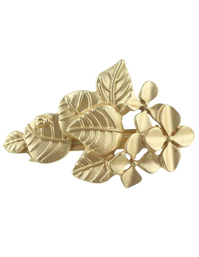 Gold Plated Leaf Shaped Hair Jewelry