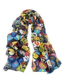 Colorful Printed Chiffon Scarf