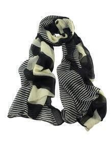 Stripe Voile Woman Scarf