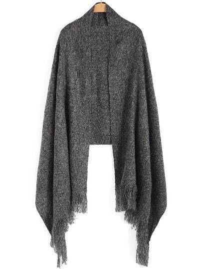 Dark Grey Tassel Scarve