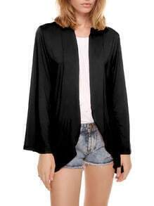 Black Bell Long Sleeve Ruffle Blouse