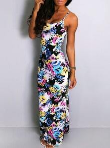 Spaghetti Strap Florals Maxi Dress