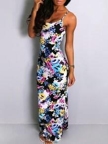 Spaghetti Strap Florals Maxi Dress