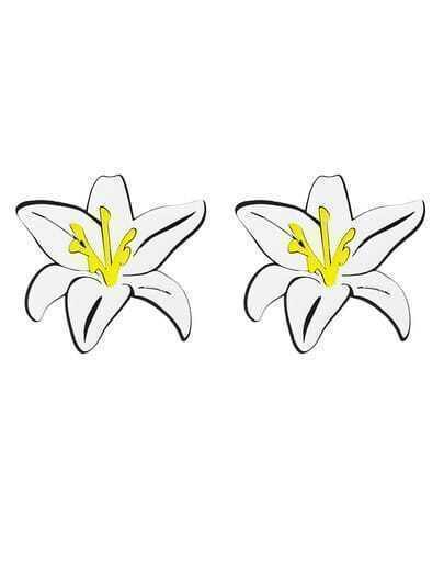 Big Stud Flower Earrings