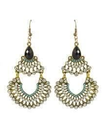 Colorful Beads Long Drop Earrings