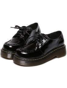 Scarpe di PU con lacci nere