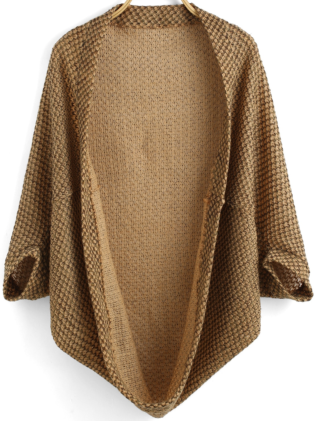 Cape Cardigan Knitting Pattern : Green Batwing Sleeve Knit Cape Cardigan -SheIn(Sheinside)