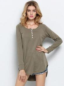 Army Green Long Sleeve T-Shirt