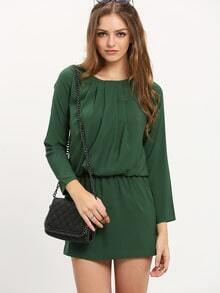 Dark Green Long Sleeve Dress