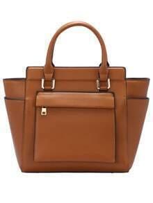Dark Yellow Zipper PU Bag