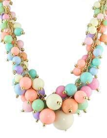 Colorful Beads Bubble Bib Necklace