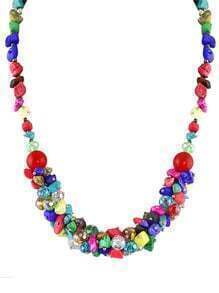 Beautiful Colorful Small Beads Necklace for Womem