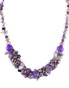 Beautiful Purple Small Beads Necklace for Womem