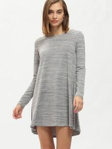 Grey Long Sleeve Casual Dress Dress